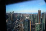 oder von der Aussichtplattform des CN-Towers aus rund 350 Metern Höhe