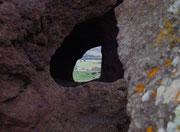 ...und Blick ins Hinterland zwischen den Beinen des Elefanten hindurch