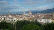 Blick auf die Innenstadt vom Michelangelo-Platz