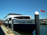 Das Ausflugsboot «James Stirling» steht bereit für die Fahrt auf dem Swan River