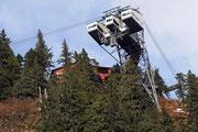 Die «freistehende» Bergstation auf dem Mount Roberts