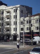 Schöne Architektur, die am San Francisco in Kalifornien erinnert