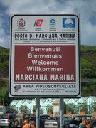 In Marciana Marina machen wir Halt bei bestem Wetter