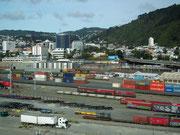 Anlegen im Hafen von Wellington