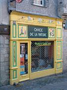 . . . und der Bio-Ladeneingang mit Schaufenster