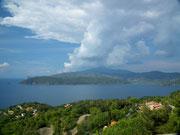 Blick Richtung Landzunge Capo di Stella