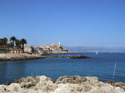Cap d'Antibes. In der Ferne Cannes