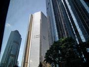 Glas und Beton dominieren die Hochhäuser