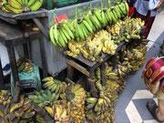 Bananen zum roh essen oder zum kochen in verschiedenen Sorten