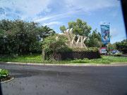 Einfahrt zum «GWK - Garuda Wisnu Kencana», Park- und Tempel-Anlage