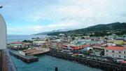 Schöne Lichtstimmung bei der Anlandung auf der Insel Dominica