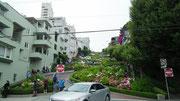 Die weltberühmte, kurvenreichste Stadtstrasse der Welt: Lombard Street