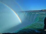 über den kanadischen Wasserfällen