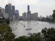 Auch hier in Brisbane wird viel in die Höhe gebaut