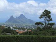 Blick auf die höchsten Erhebungen der Insel