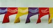 1968 Reihenstühle in Stahl
