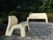 1967 Möbel-Serie in neuartiger Kunststoff-Produktion für Kusch & Co