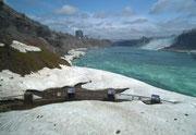 Die unteren Aussichtterrassen der Niagara-Fälle sind wegen Schnee und Eis noch geschlossen