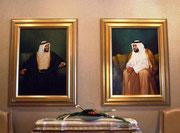 Selbstverständlich werden wir durch Vater und Sohn Scheich von Abu Dhabi . . .