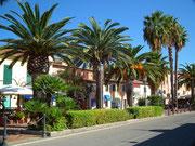 Ein Spaziergang auf der Promenade vorbei am Hafen . . .
