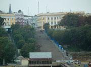 Aus der Ferne die Potemkin'sche Treppe
