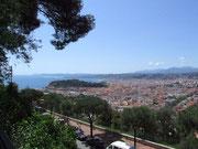 Blick über Villefranche sur Mer nach Nizza