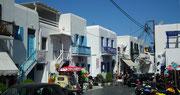 Die typischen kubischen Häuser mit den abgerundeten Ecken und Kanten