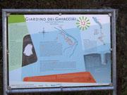 Die Informationstafel zum Gletschergarten von Cavaglia