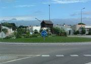 Verkehrskreisel auf dem Weg nach La Guerche de Bretagne . . .