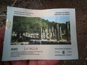 Die antiken Tempelanlagen beim Olympia-Stadion