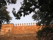 Die mit Zinnen geschmückte Stadtmauer, die die Altstadt umgibt