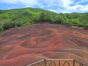 In Chamarel liegen die «Seven coloured earth»  . . .