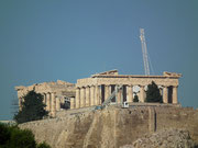 Blick auf die Akropolis. An der wird schon so lange renoviert,