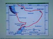 . . .  südwärts zum südlichsten Ende in die Antarktis