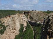 Der schmale Übergang liegt 78 Meter über dem Meeresspiegel