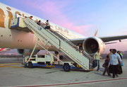 Ankunft in Dubai auf dem wunderschönen Airport