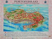 Ein geführter Stadtspaziergang in Portoferraio stand auch auf dem Programm