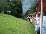 Mit der nostalgischen Dampfbahn im Höhenpark Killesberg