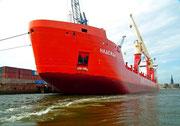 Die grossen Frachtschiffe kommen aus aller Welt