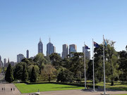 Blick auf die Silhouette der Stadt Melbourne