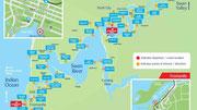 In der Nähe des Zoos von Perth beginnt die «River Cruise» flussabwärts nach Fremantle