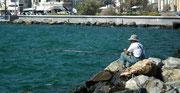 Der Angler: Mit sich und der Welt zufrieden !