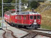 Mit der RhB gings gemütlich ins Val Poschiavo bis zum . . .