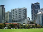 Das *****Hotel «Pan Pacific Perth», natürlich mit herrlichem Blick aufs Wasser