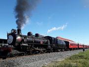 Das obligatorische Erinnerungsbild des Nostalgie-Dampfzuges «Marlborough Flyer»