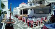 Sehr einladend: Nettes sonniges Plätzchen und griechische Küche !