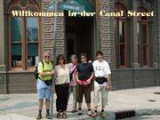 Familie Canal an der Canal Street Orlando