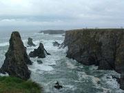 Es soll Wellen geben, die das Plateau der Klippen erreichen . . .