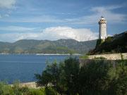 Wir besuchen auch die Napoleonische Villa dei Mulini mit Blick auf den Leuchtturm