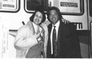 CON L'AMICO SEBASTIANO SOMMA, AL DERBY DEL CUORE 1993